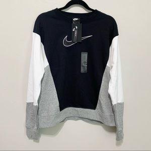 Nike 90's Colorblock Pullover Sweatshirt NWT